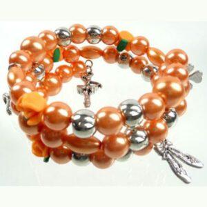 Armband Spiraal Oranje