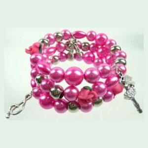 Armband Spiraal Roze