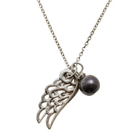 Ketting Angel Wings Dark Grey