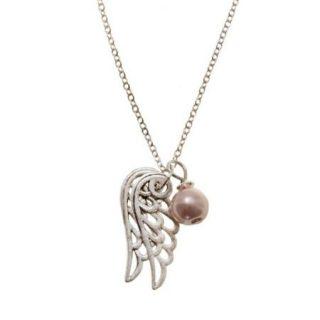 Ketting Angel Wings Roze