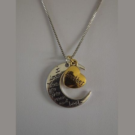 Ketting I Love You Moon Brother