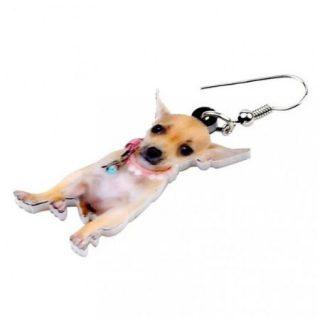 Oorbellen Chihuahua Zittend