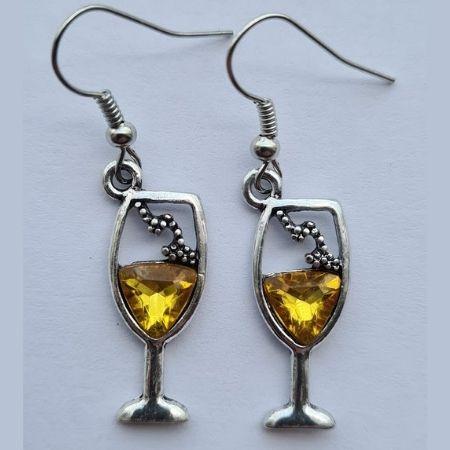 Oorbellen Wijnglas