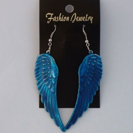 Oorbellen Wings Blauw