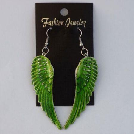 Oorbellen Wings Groen