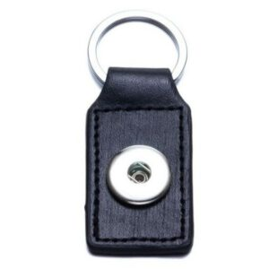 Sleutelhanger Click Button Zwart