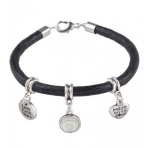 armband love faith hope zwart