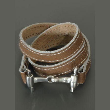 Armband Wikkelarmband Paardenbit Bruin