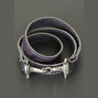 Armband Wikkelarmband Paardebit Paars