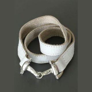 Armband Wikkelarmband Paardenbit Wit